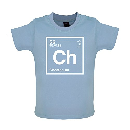 CHESTER - Periodic Element - Baby / Toddler T-Shirt - Dusty Blue - 12-18 Months