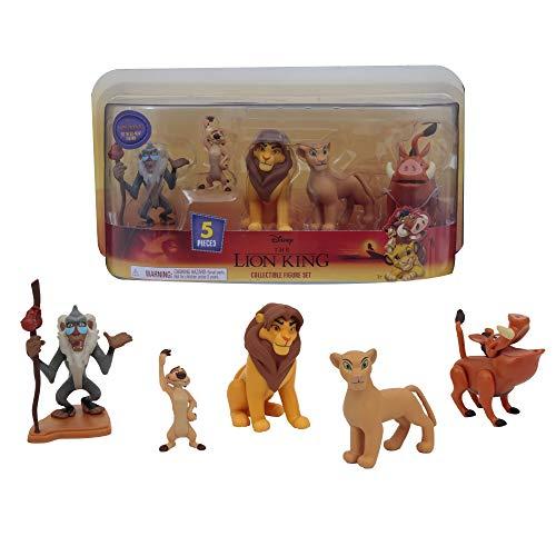 Le Roi Lion, Coffret 5 figurines, avec Simba, Nala, Pumbaa, Timon, Rafiki, Jouet pour enfants dès 3 ans, LNN09