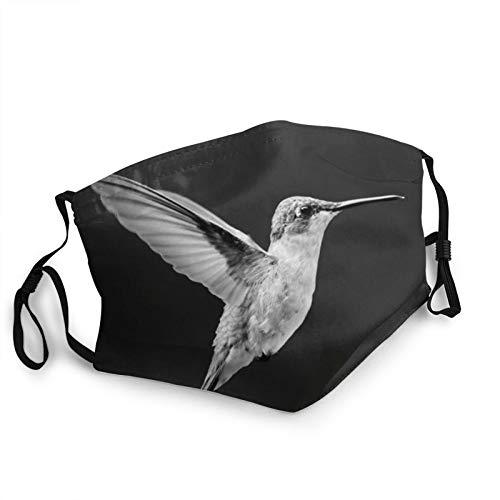HUASiHIFI Animal Hummingbird Face Mask Fashion Design Mask Adjustable Balaclava Bandanas Unisex Windproof Mask Adult Black, 20cm