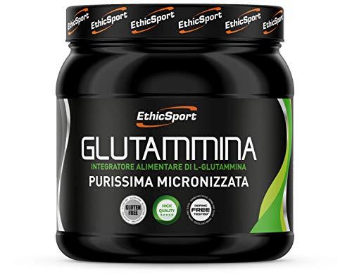 EthicSport - Glutammina - Barattolo da 300 g - Integratore alimentare di L-Glutammina