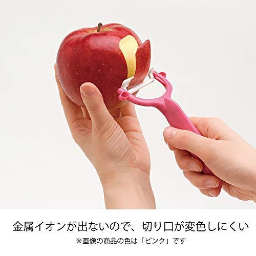 『京セラ ピーラー ファイン セラミック サビない 除菌 漂白 OK 切れ味 長持ち イエロー 日本製 Kyocera CP-99 YL』の4枚目の画像