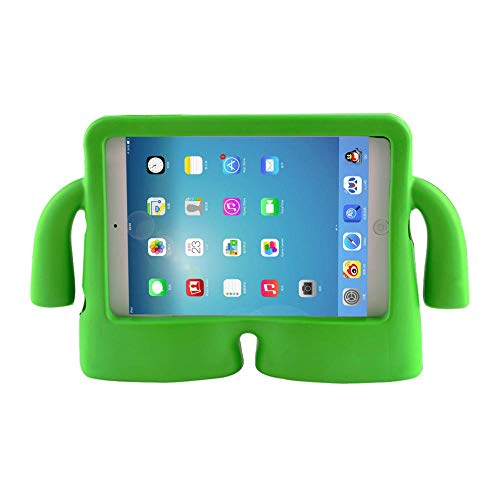 Tablet-Hülle für IPad Mini 1 2 3 4 5 Silikonhülle Niedlicher 3D-Cartoon-Kinder-Kinder-stoßfester Eva-Schaumgriffständer-Grün_für Pro 11 Zoll