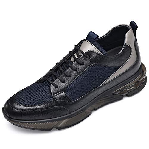 Chamaripa H02YL788201 - Zapatillas para hombre (7 cm), color Negro, talla 42 EU