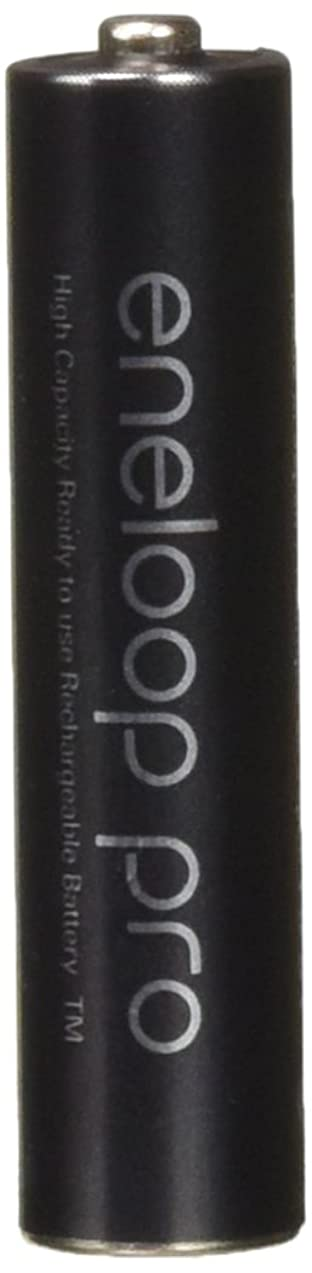 Eneloop 4 Panasonic Pro AAA 950mAh Min 900mAh, High Capacity, Ni-MH Pre-Charged Rechargeable Batteries with Battery Holder
