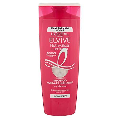 Elvive Shampooing Nutri-Gloss Luminizer Maxi format – 400 ml