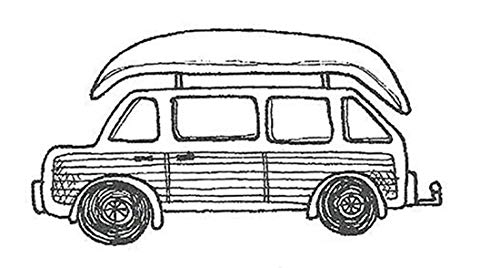 IO Family Wagon Cling Rubber Stamp C19161