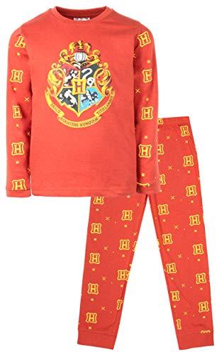 Harry Potter Conjunto de pijama oficial | Disponible para edades de 5 a 14 aos | Pijama de manga larga | 100% algodn vestido disfraz | Regalo para nios y nias