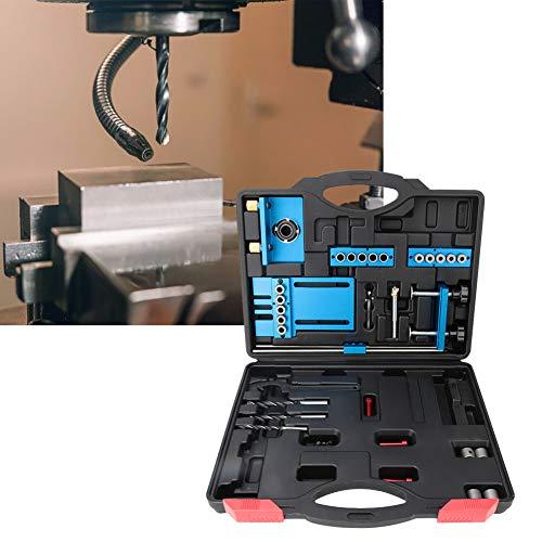 Boorsjabloon geleidegereedschap, aluminium deuvel boorsjabloon geleidingsset 6/8 / 10 mm ponspositioneringsgereedschap voor houtbewerking