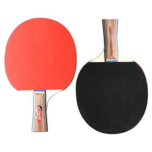 Meopreboey 2 STKS Ping Pong Racket Rubber Set Tafel Tennis Racket Lange Korte Handvat Bat Racket Dubbele Gezicht Puistjes