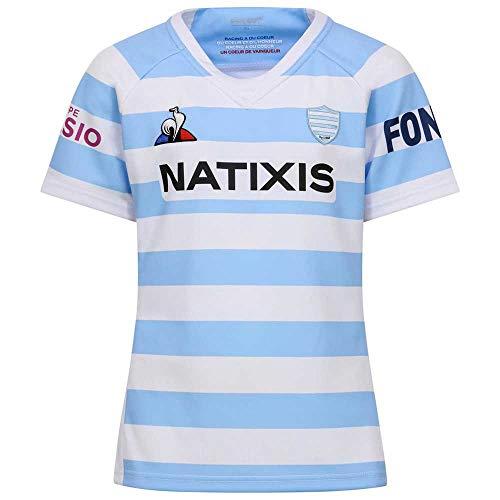 Le Coq Sportif Damen Racing Asso Maillot Ss Enfant Unterhemd, Weiß/Blau (Optical White/Blue 92), 10A