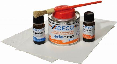Adeco Schlauchboot Reparaturset Profi PVC GRAU