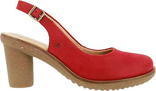 El Naturalista Trivia, Zapatos de tacón con Punta Cerrada para Mujer, Rojo (Tibet Tibet), 41 EU