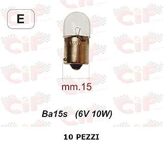 10 bombillas para luz de freno BA15S 6 V 10 W compatible con Honda