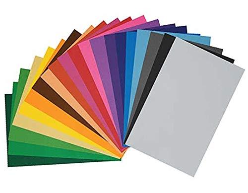 Thou Set 20 láminas Goma eva Adhesiva Surtido Colores de 20x30 cm Gro