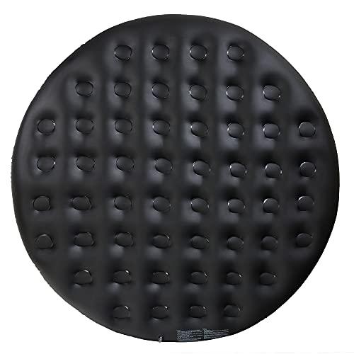 Arebos Thermoabdeckung für Whirlpools | schwarz | Whirlpoolzubehör für Pools | Aufblasbare Abdeckung | Ø140cm