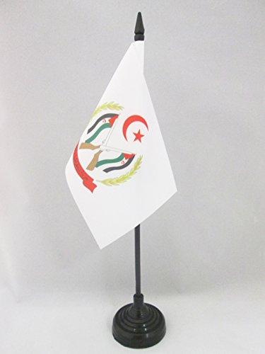 AZ FLAG TISCHFLAGGE Waffen FRENTE POLISARIO WESTSAHARA 15x10cm - DEMOKRATISCHE ARABISCHE Republik Sahara TISCHFAHNE 10 x 15 cm - flaggen