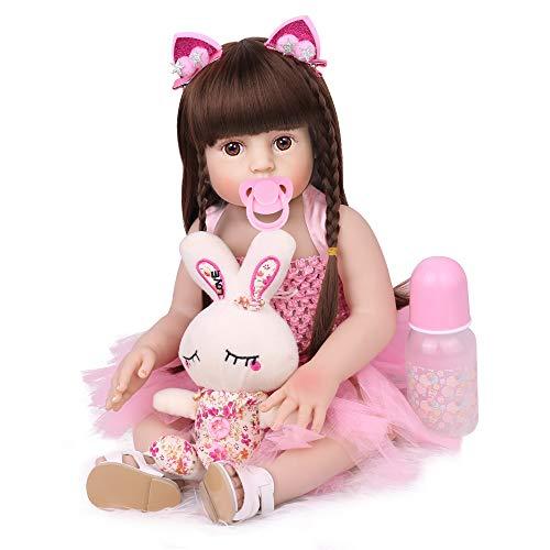 CHAREX Handmade Reborn Baby Dolls 18 Inch, Waterproof Toddler Girl Dolls, Full Body Vinyl Baby Reborn Dolls Bath Dolls for Age 3+
