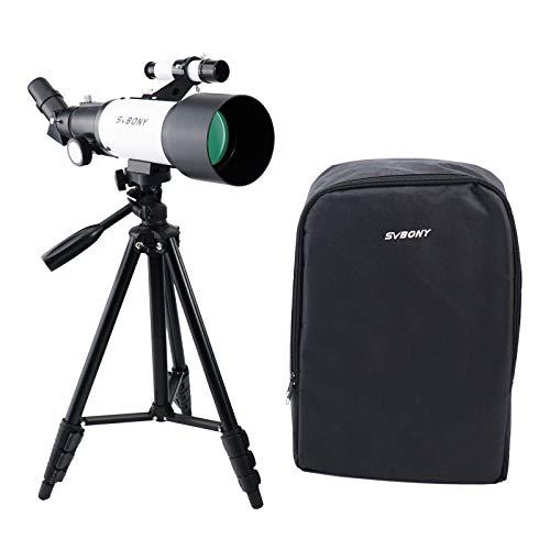 telescopio astronomico con mochila de la marca SVBONY