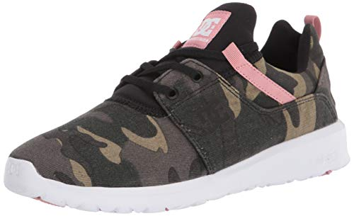 DC Women's Heathrow TX SE Skate Shoe, Camo Black, 6.5 B M US