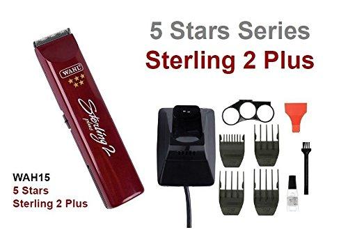 Wahl Sterling 2 Plus 5 Star - Tagliacapelli ricaricabile wireless, professionale