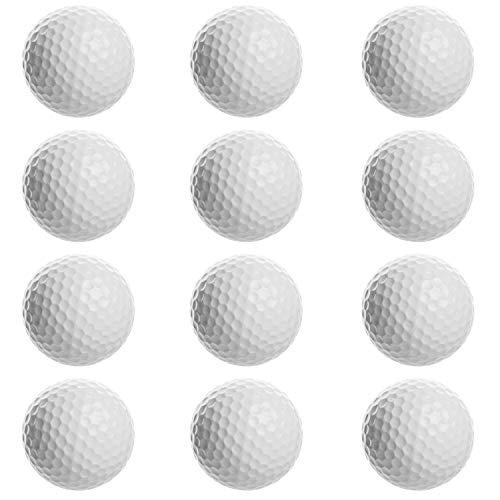iPlay, iLearn Practice Balls, Golf Balls, Bulk Set of Golf Balls for Swing Practice, Driving Range, Home Use (One Dozen)