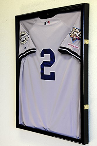 Baseball Jersey Frame Display Case Cabinet w/ 98% UV Protection -Black Finished