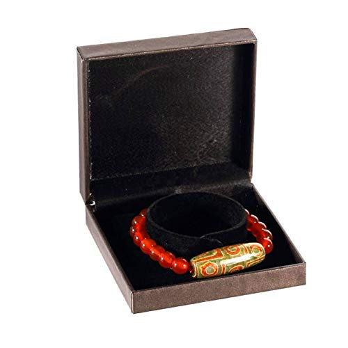 lachineuse Tibetisches Armband – Dzi mit 9 Augen – Symbol für Erfolg und Schutz – mit Schatulle