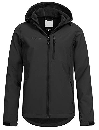 Top Fuel Fashion Herren Softshelljacke Roperto Outdoor-Jacke mit Kapuze Phantom L