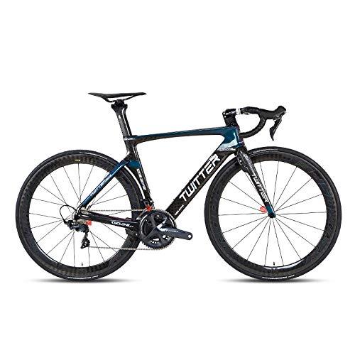 Rueda de Carbono de Horquilla de Carbono de Bicicleta de Carretera de 22 velocidades para componentes de 105 / R7000 UT / R8000 Ultraligero 7 8kg-Discolored_Frame_52cm_China
