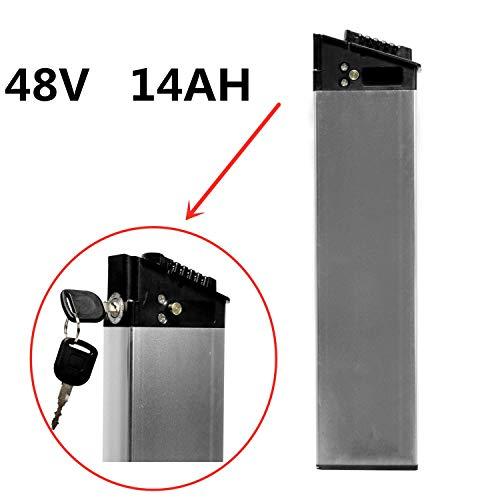 LANKELEISI Batería Oculta 48V 14AH para Bicicletas eléctricas. Batería de Repuesto de biciclo eléctrico ebike e-Bicyle
