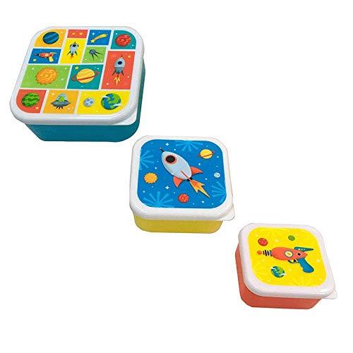 DISOK - Set 3 Tapers Lunch Galaxia. Tapers Originales con Formato Galaxia como Recuerdo para Boda, Bautizo, comunion, Fiestas, colegios. Fiambreras Colegio