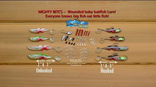 Mighty Bite Nano Kit - Worlds First Baby Baitfish Lure, Great Casting...