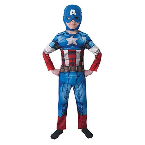 Rubie's-déguisement officiel - Marvel- Déguisement Classique Pour Enfant Captain America Assemble - Taille L- I-610261L