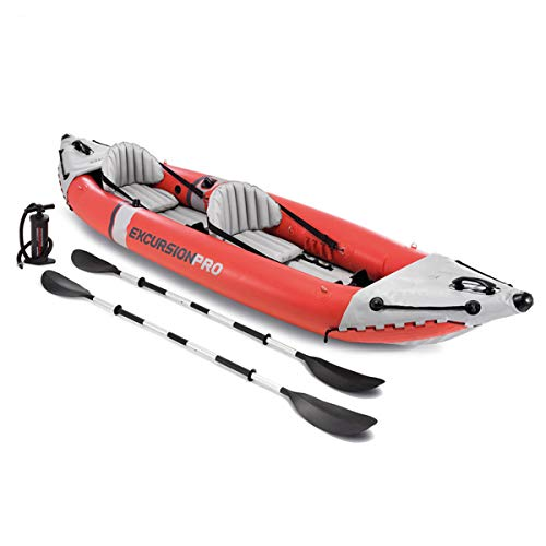 ZHBD Barca da Pesca Portatile, Accessori Gonfiabili in Kayak con Remi di Alluminio E Pompa...