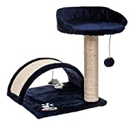 Fineway. Cat Canopy Kitten Tree Activity Centre Scratch Scratching Post Climbing Toy Bed- Easy To As...