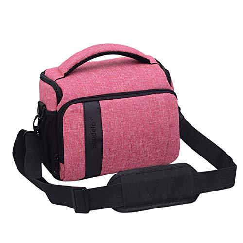 P.I.Sport N.Y. DSLR Funda Impermeable para cámara fotográfica para Canon EOS 750D 1300D 5D Mark IV III 800D 200D 6D Mark II 7D 60D 70D 600D 700D 700D 760D 760D,Pink,24 * 14 * 20cm