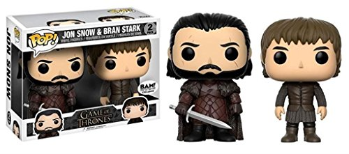Funko POP! Juego de Tronos: Jon Nieve y Bran Stark exclusivo