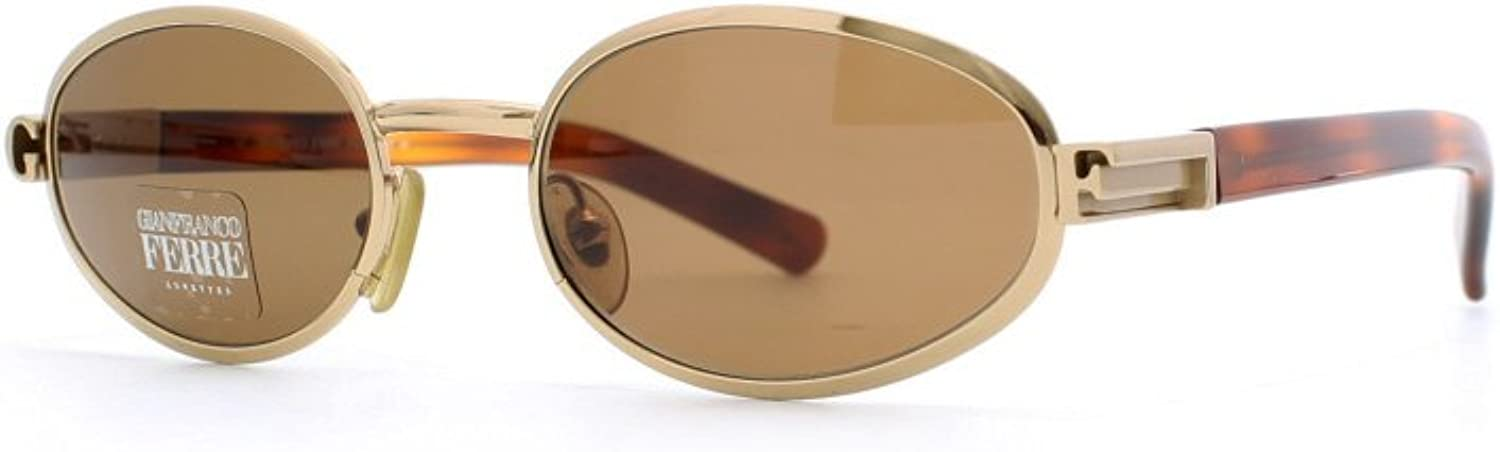 Gianfranco Ferre 489 4ZB Brown and gold Authentic Women Vintage Sunglasses