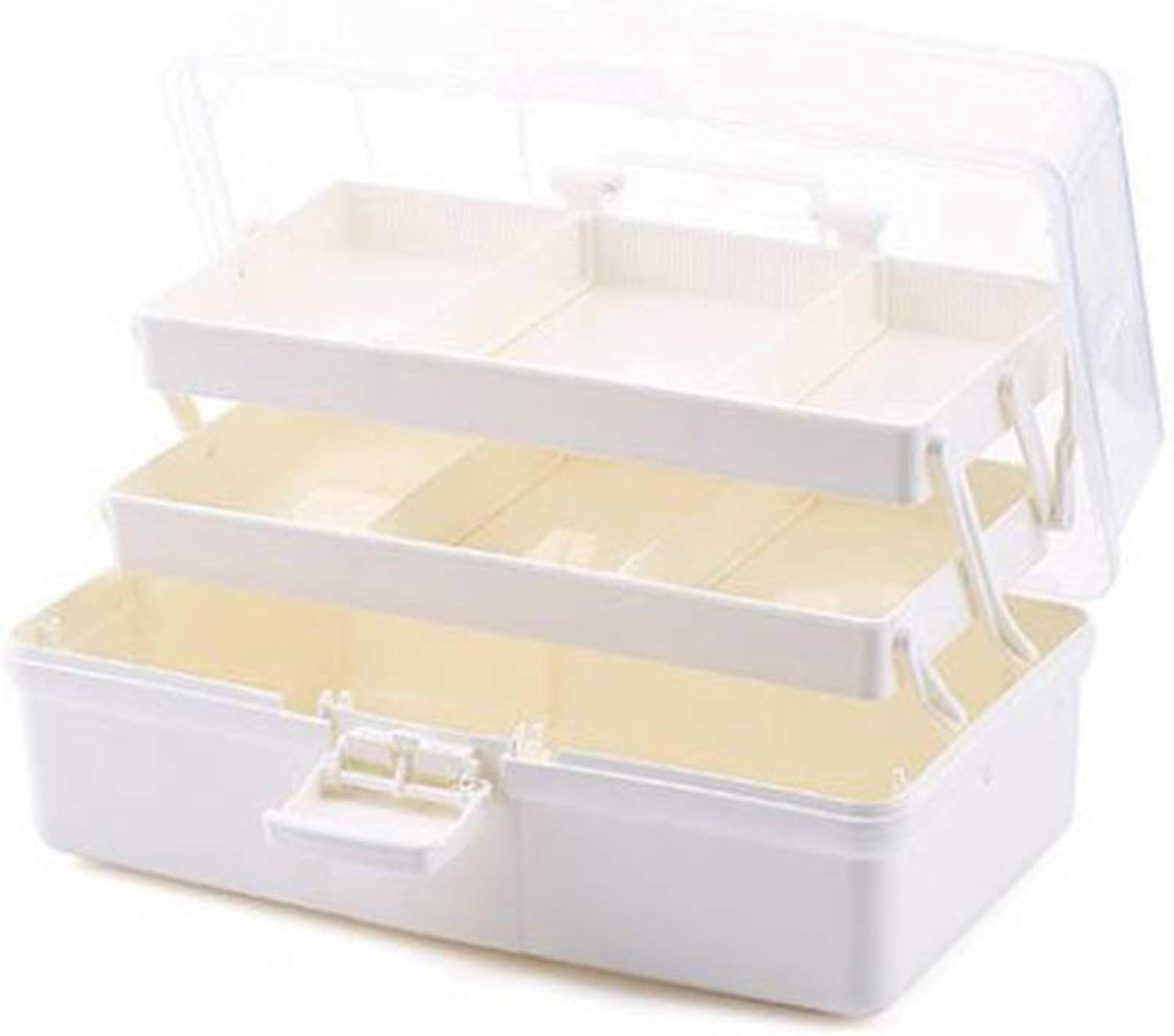 Portable ThreeLayer MultiFunction Storage Box LargeCapacity Medicine Box Pill Box Plastic Tool Storage Box