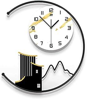 GJHK Horloge Murale Minimaliste Moderne, Horloge de décoration de la Maison, Salon de Mode 3D Lumineuse d'éclairage créati...