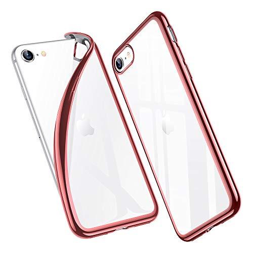 ESR Funda para iPhone SE/8/7 [Funda TPU][No amarillea][Tapa Trasera de Solo 1,1 mm] [Esquinas con Absorción de Golpes][Funda de Silicona Flexible] Oro Rosa