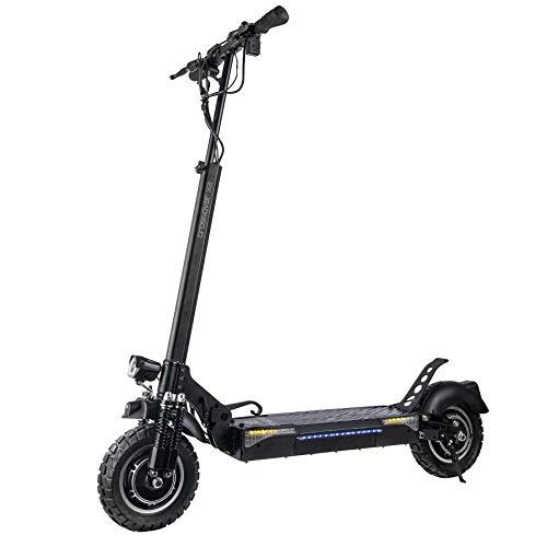 Patiente eléctrico SmartGyro CrossOver X2 - Patinete Eléctrico con tracción total de 1600 W, 2 motores de 800 W, 3 velocidades, hasta 45 Km de autonomía, Suspensiones de doble Amortiguador, Intermitentes, Leds, Negro