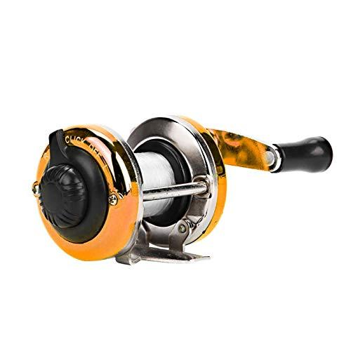 DAUERHAFT 2.9 * 3.5In Moulinet de pêche Haute résistance à la Corrosion, pour la pêche sur Glace(Golden)
