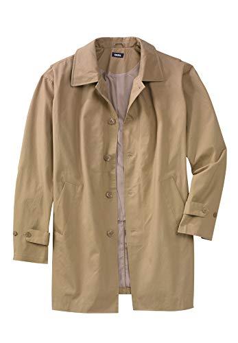KingSize Men's Big & Tall Water-Resistant Trench Coat - Big - 5XL, Khaki