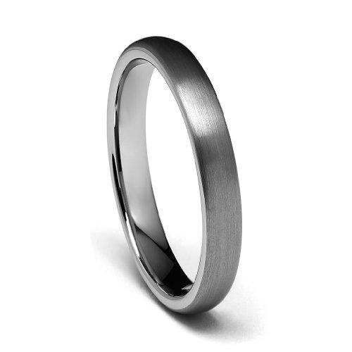 TWJC 4mm Round Tungsten Wedding Band - Size 8
