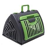 Pet Carrier Dog Puppy Kitten Rabbit Transport & Travel Cage (Green)