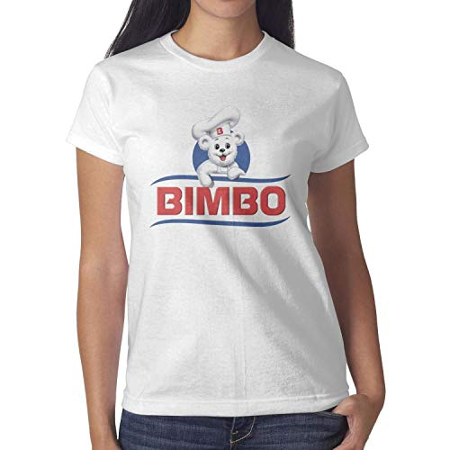 Heart Wolf Womens White T-Shirts Tee Cotton Casual Bimbo-Sign- Short Sleeve