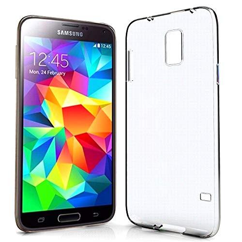 N NEWTOP Cover Compatibile con Samsung Galaxy S5, Custodia Morbido TPU Clear Protettiva Silicone Trasparente Slim Case Posteriore