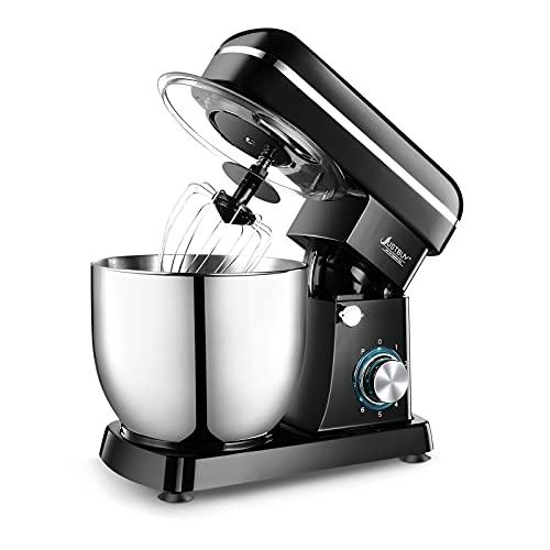 APROTII 1500 W 5 L Eléctrico Food Mixer 6 Velocidades Mesa Stand Robot Cocina Amasadora para Torta Crema Huevo Batidora de Cocina Máquina Potente