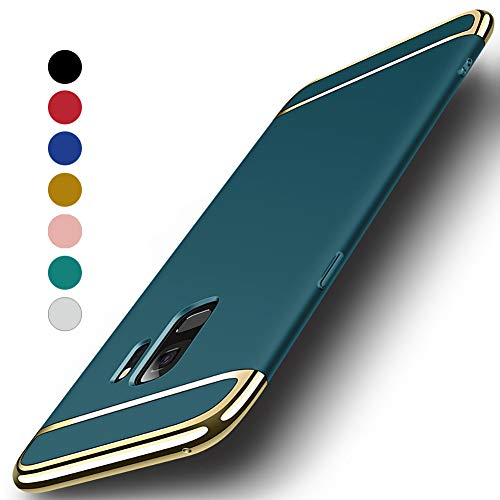 NAISU Galaxy S9 Case, Galaxy S9 Back Cover, Ultra Slim & Rugged Fit Shock Drop Proof Impact Resist Protective Case, 3 in 1 Hard Case for Samsung Galaxy S9 - Dark Green